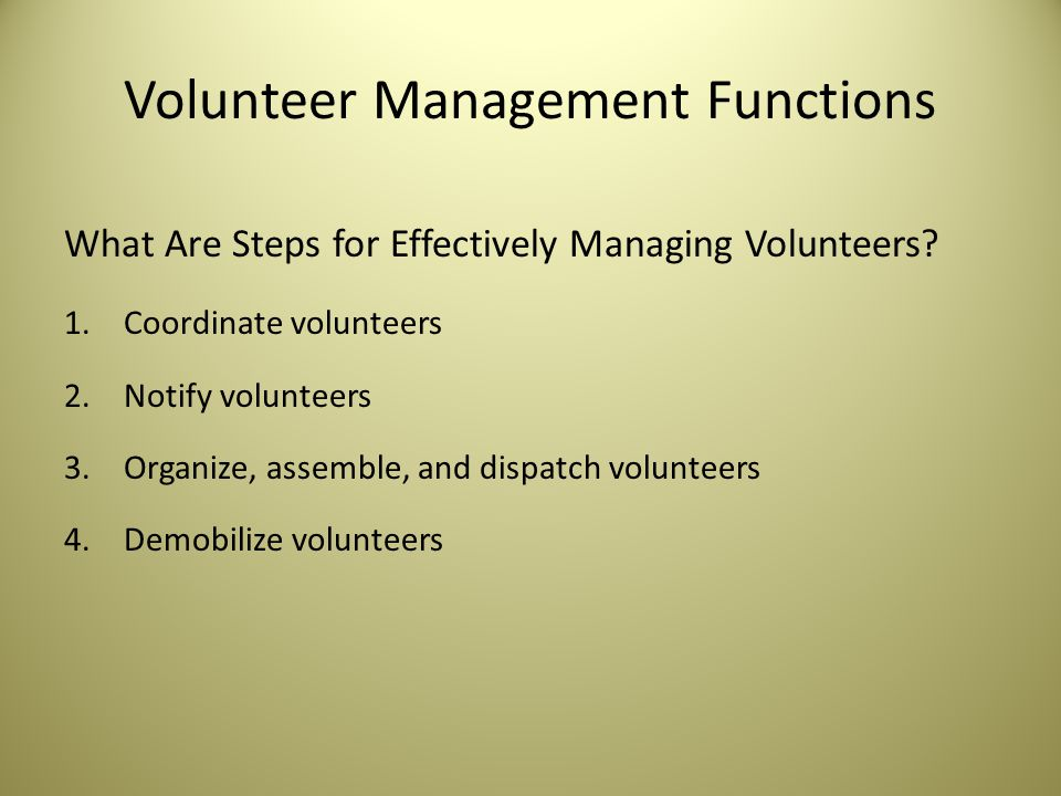 Volunteer Management Functions What Are Steps for Effectively Managing Volunteers.