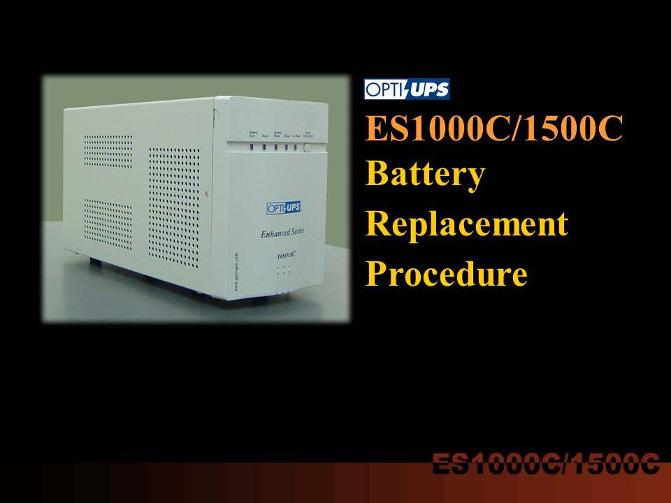 ES1000C/1500C Battery Replacement Procedure