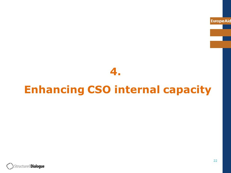 EuropeAid Enhancing CSO internal capacity