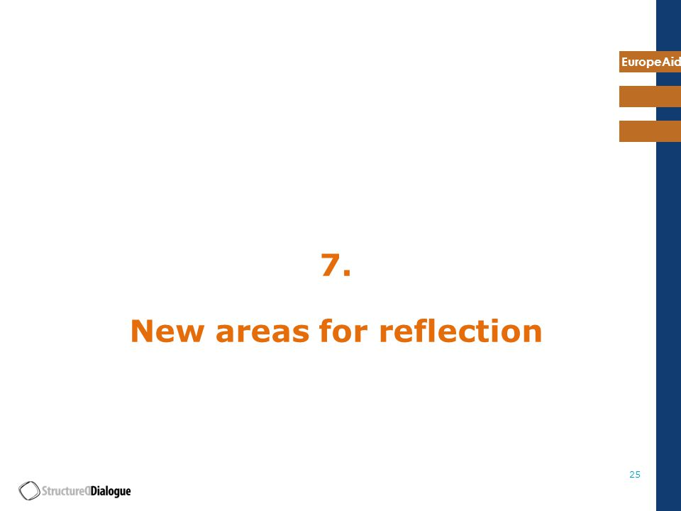 EuropeAid New areas for reflection