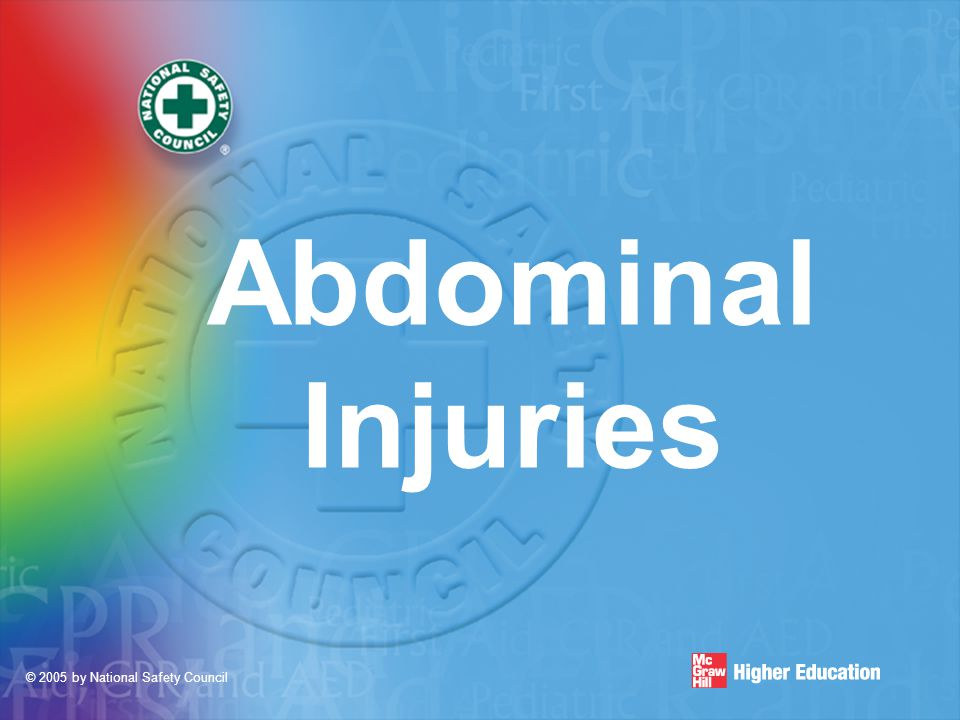 © 2005 by National Safety Council Abdominal Injuries