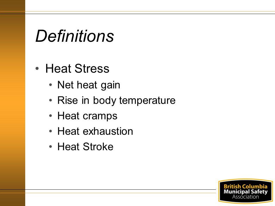 Heat Stress Agenda Definitions Regulation Responsibilities Hazard