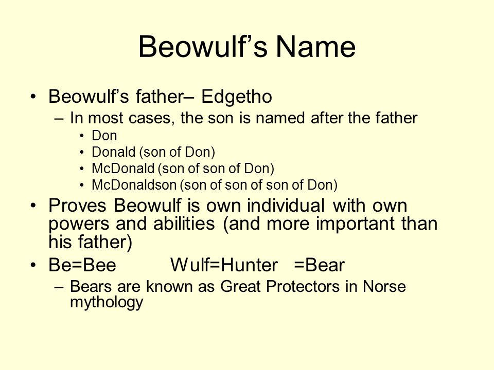 who is edgetho in beowulf