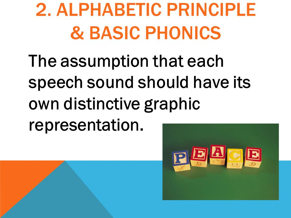 The assumption that each speech sound should have its own distinctive graphic representation.