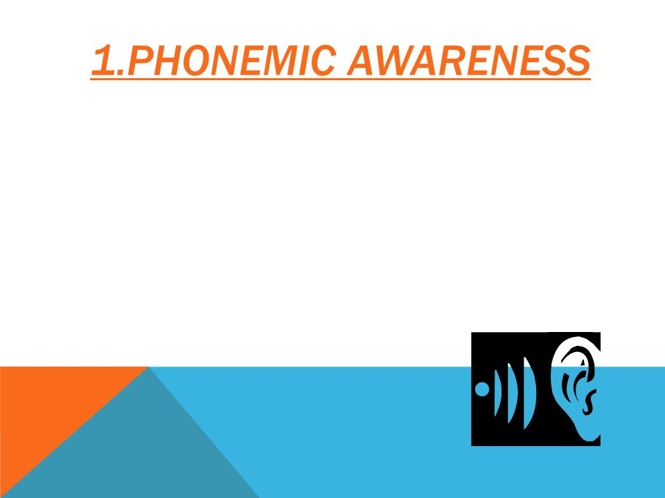 1.PHONEMIC AWARENESS