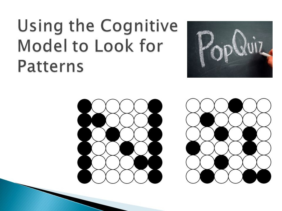Using the Cognitive Model to Look for Patterns