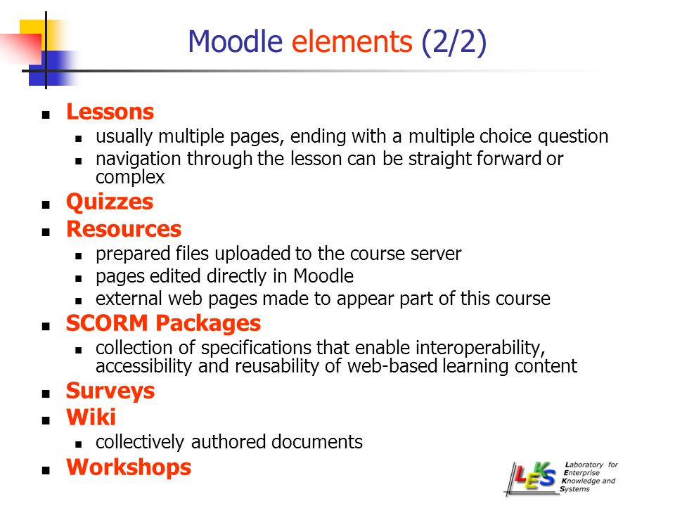 A Standard and an eLearning Platform for LEMAIA: SCORM and Moodle