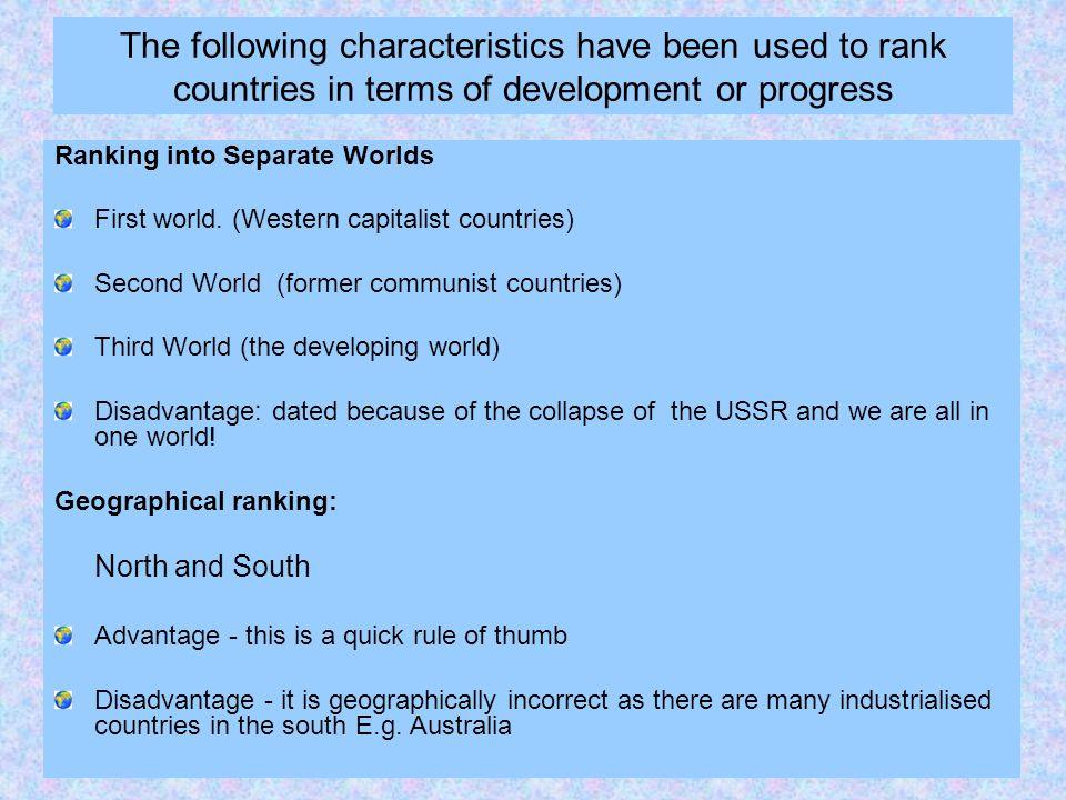 characteristics of the third world