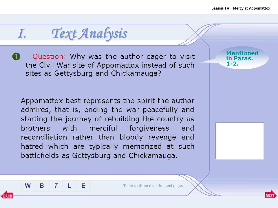 chickamauga analysis