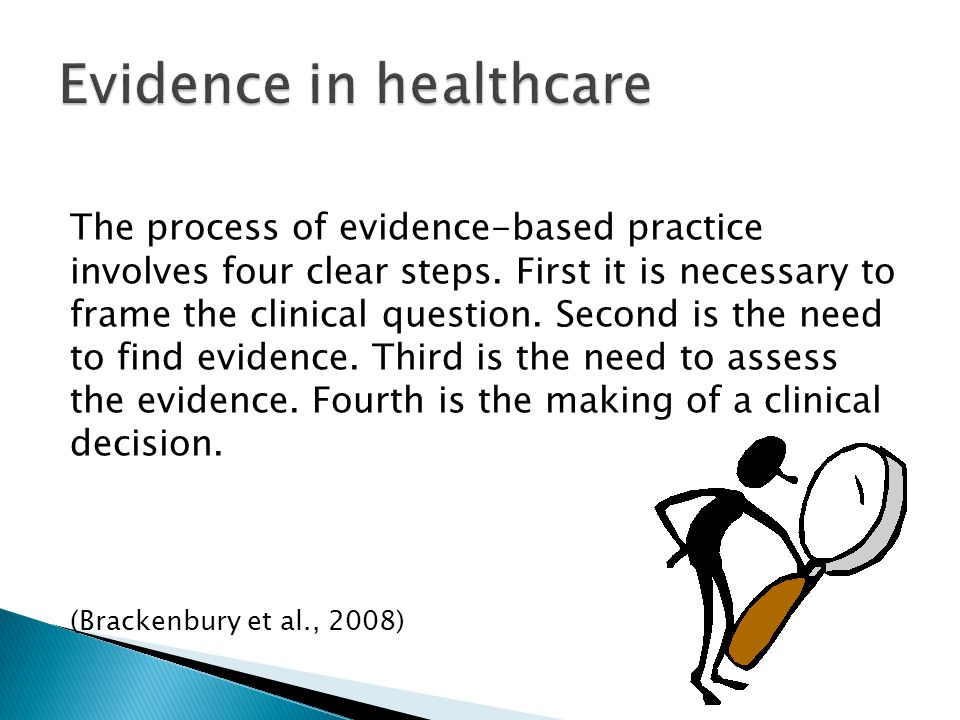 The process of evidence-based practice involves four clear steps.