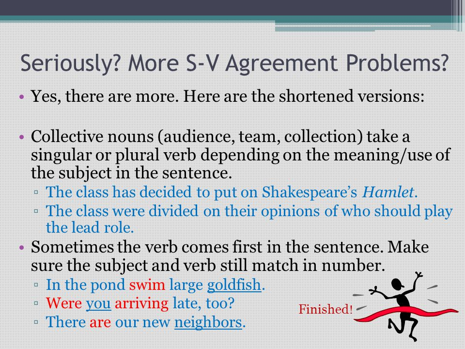 Subject Verb Agreement Subject The Main Person Animal Object Or