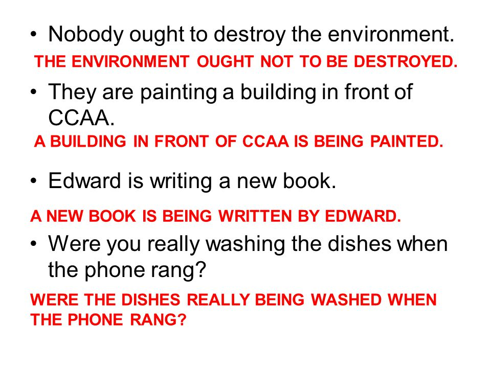 Nobody ought to destroy the environment. They are painting a building in front of CCAA.
