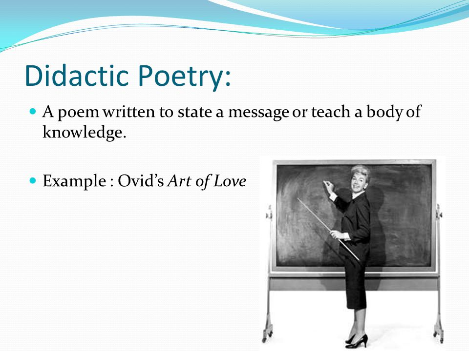 Didactic poem example.