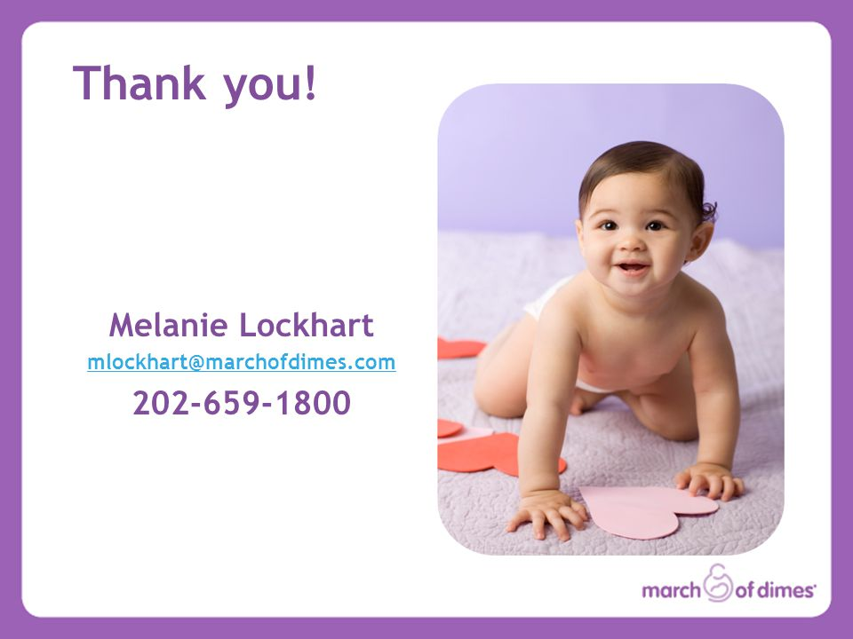 Thank you! Melanie Lockhart