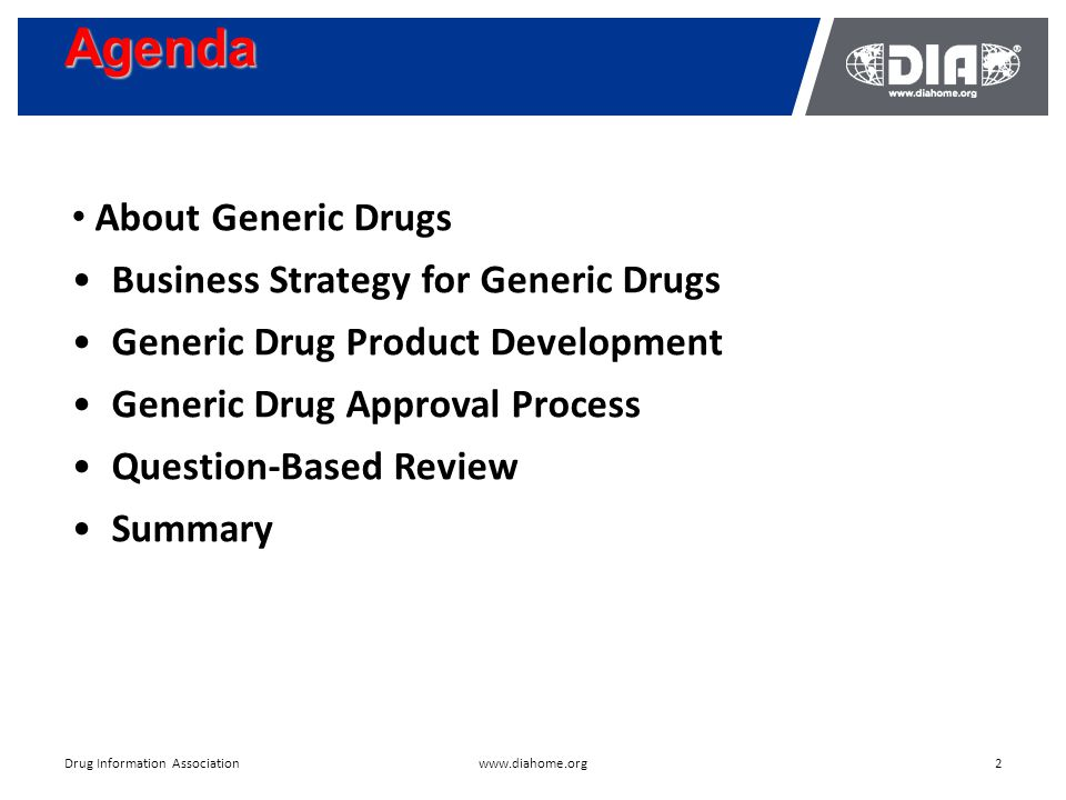 Development & The US FDA Approval of Generic Drugs May 18