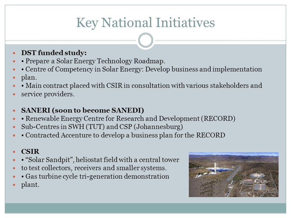 KM NASSIEP CEO SANEDI Role in Development of CSP Industry in SA