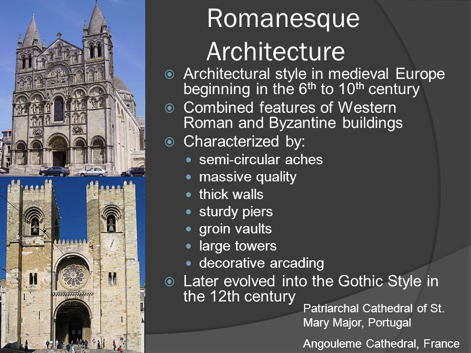 Romanesque Architecture Architectural Style In Medieval Europe Beginning The 6 Th To 10