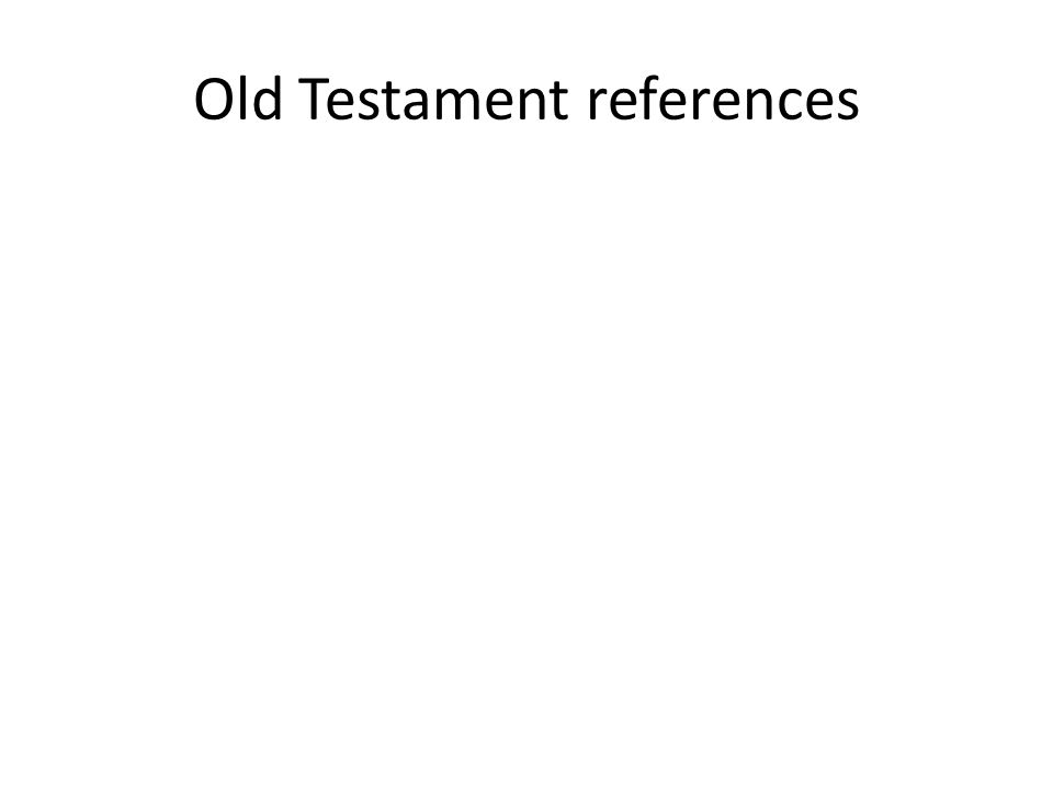 Old Testament references