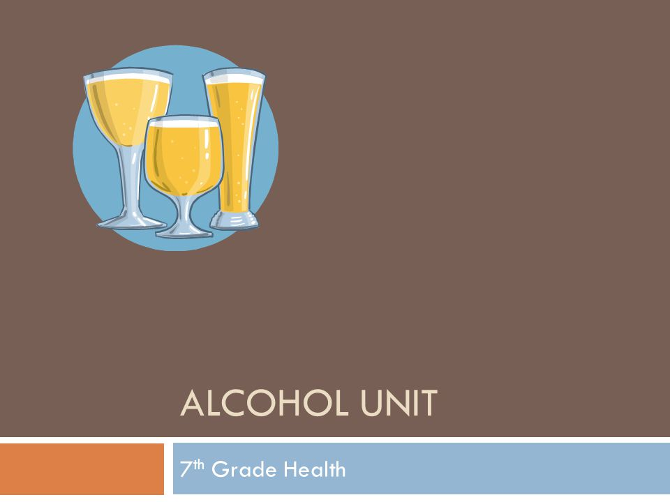 ALCOHOL UNIT 7 th Grade Health