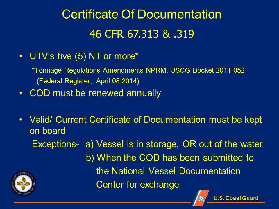 Us Coast Guard Documents Us Coast Guard Lesson Objectives
