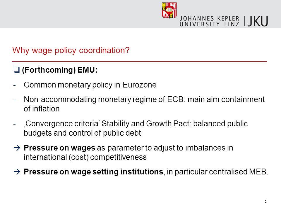 1 Transnational trade union strategies in European wage