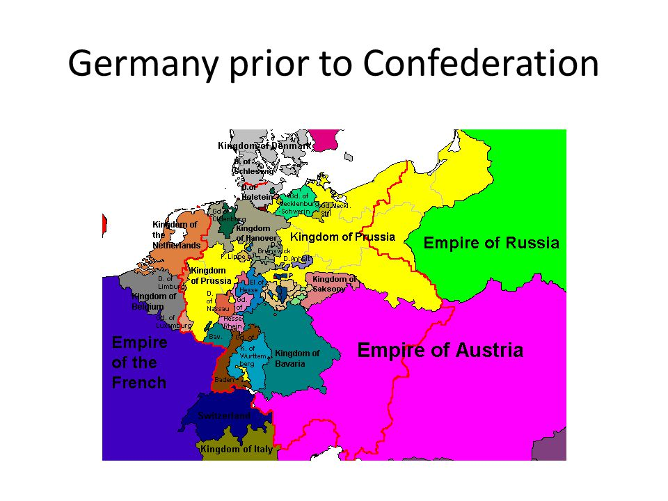 Map Of Germany Prior To Unification.German Unification Impact On Europe Germany Prior To