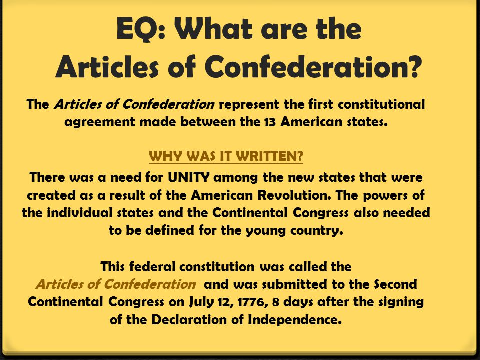 articles of confederation definition