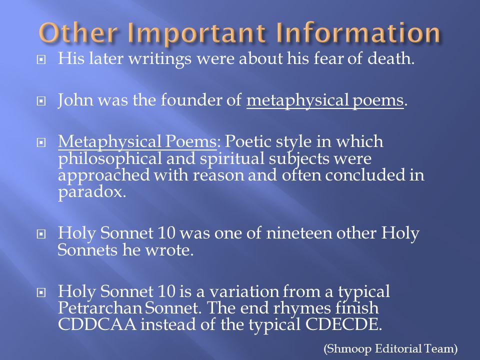 holy sonnet 10 death be not proud