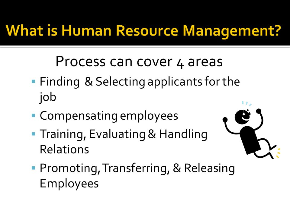  Define terms related to Human Resource Management  Identify the activities of Human Resource Management  Identify tools to manage employees  Identify employee compensation, safety, and turnover/retention  Identify Laws Effecting Human Resources