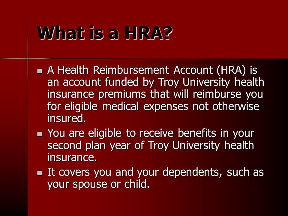 What is a HRA.