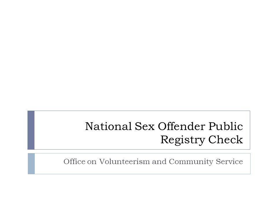 Sjodin national sex offender registry