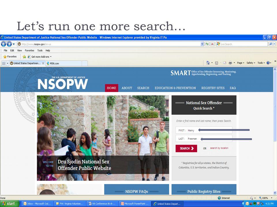 Dru sjodin national sex offender public website