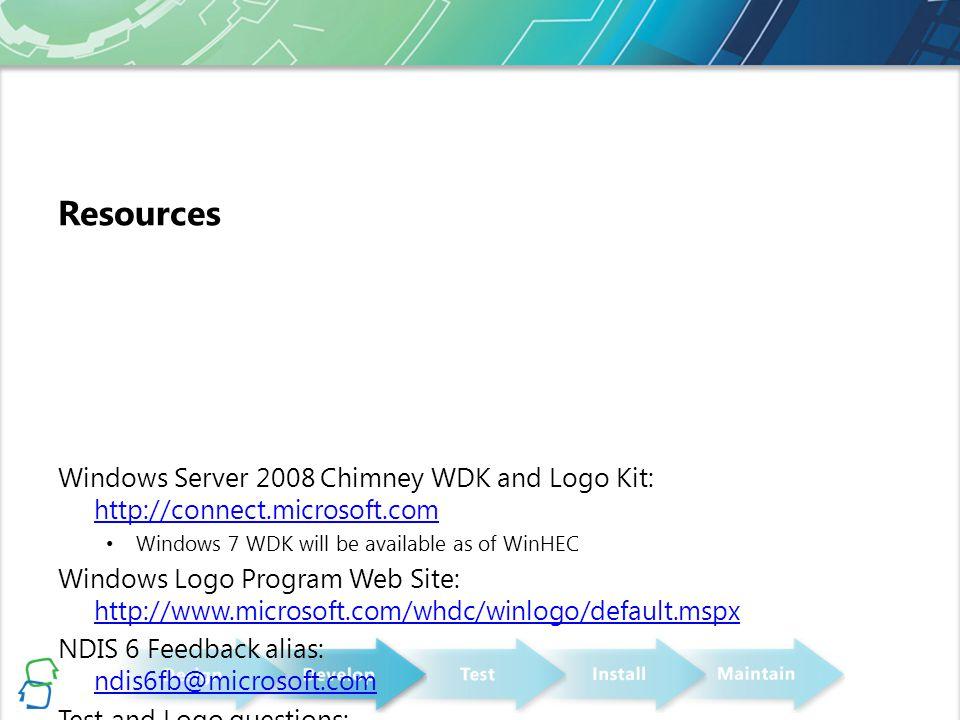 Developing TCP Chimney Drivers for Windows 7 Joe Nievelt Vivek Bhanu