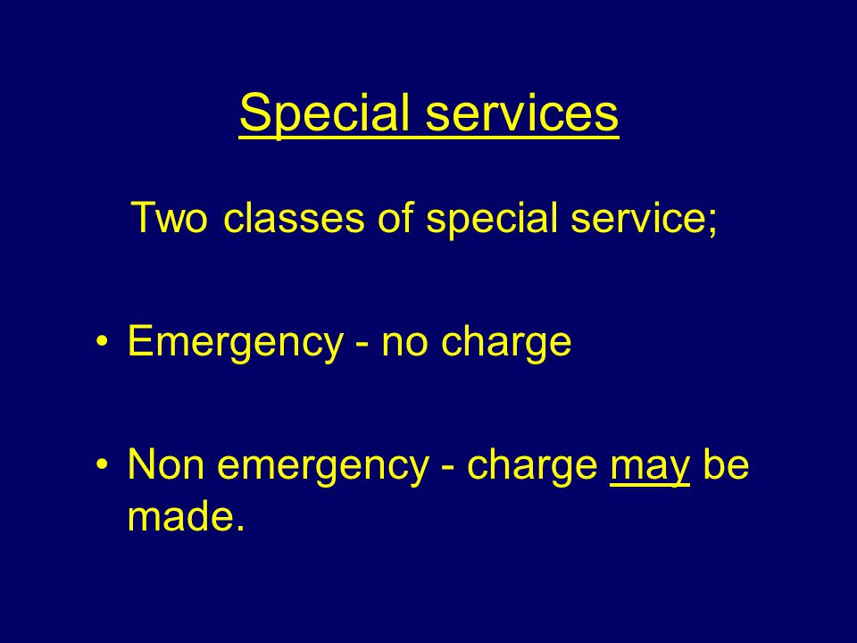 Legislation Section 3 (1) e, Fire Services Act 1947; A fire authority may employ it's fire brigade or it's equipment for purposes other than firefighting which it appears suitable, and if they think fit make charges .
