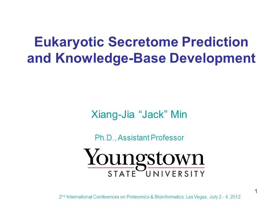 1 Eukaryotic Secretome Prediction and Knowledge-Base Development