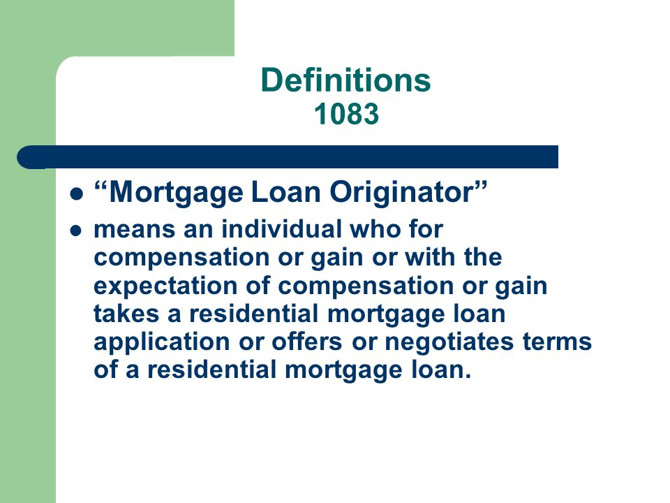 Louisiana Office of Financial Institutions Louisiana Secure and Fair Enforcement of Mortgage Licensing Act of 2009 Or Louisiana S.A.F.E. Residential Mortgage. - ppt download - 웹