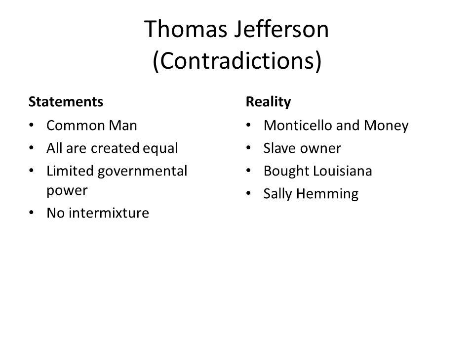 Jefferson contradictions