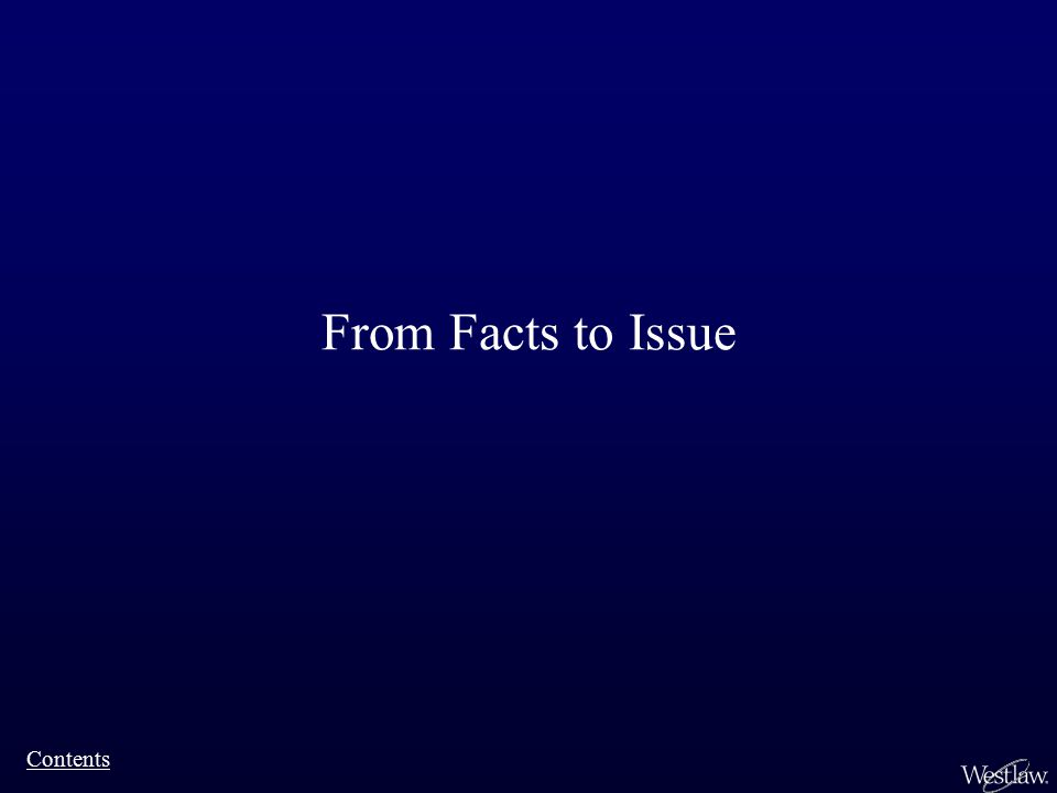 From Facts to Issue Contents