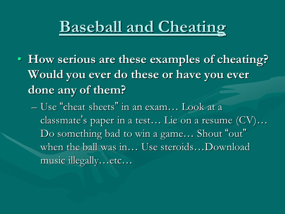 Baseball and Cheating How serious are these examples of