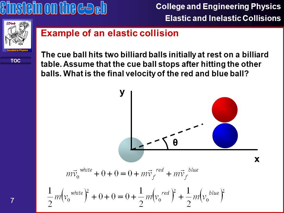 College And Engineering Physics Elastic And Inelastic Collisions 1 Toc Conservation Collisions Ppt Download