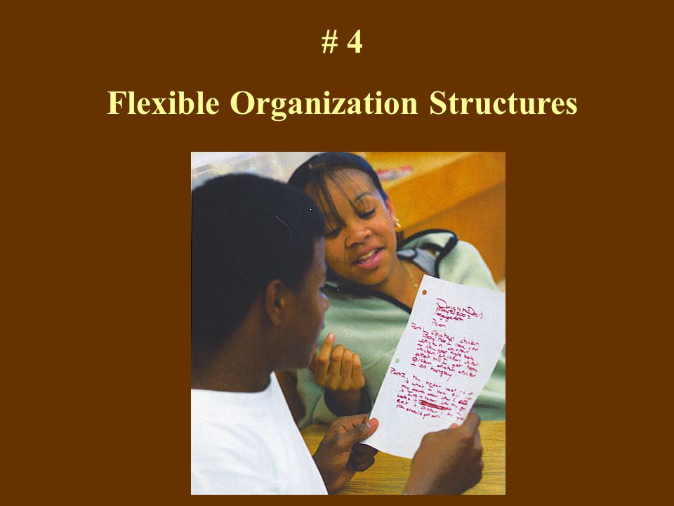 # 4 Flexible Organization Structures
