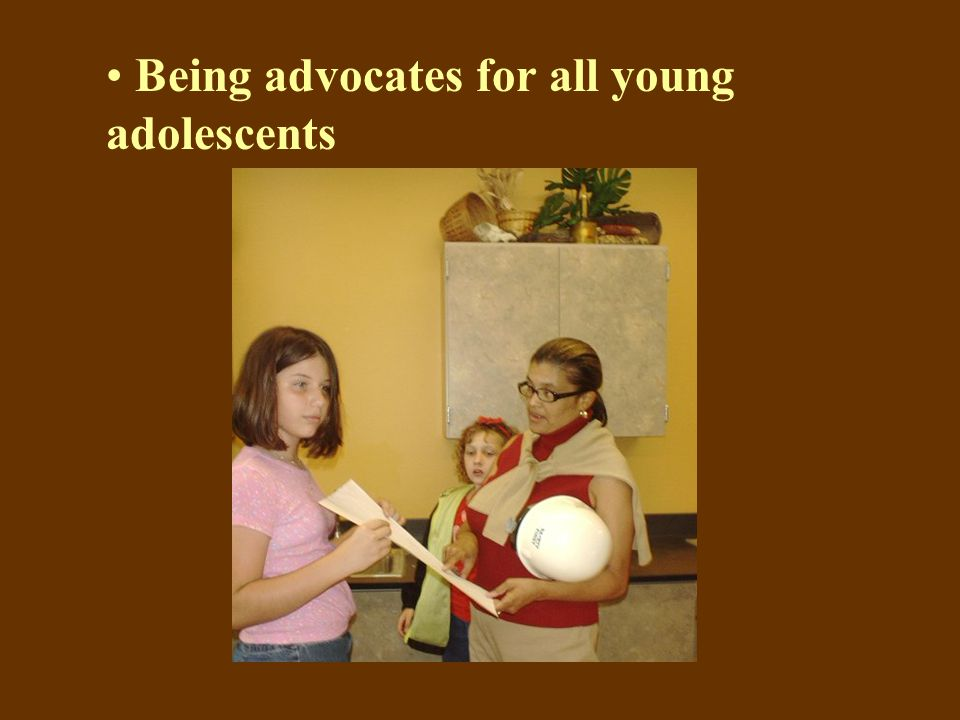 Being advocates for all young adolescents