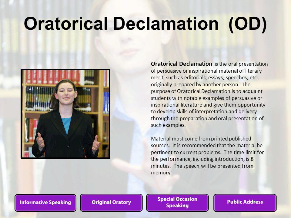 declamation speech ideas