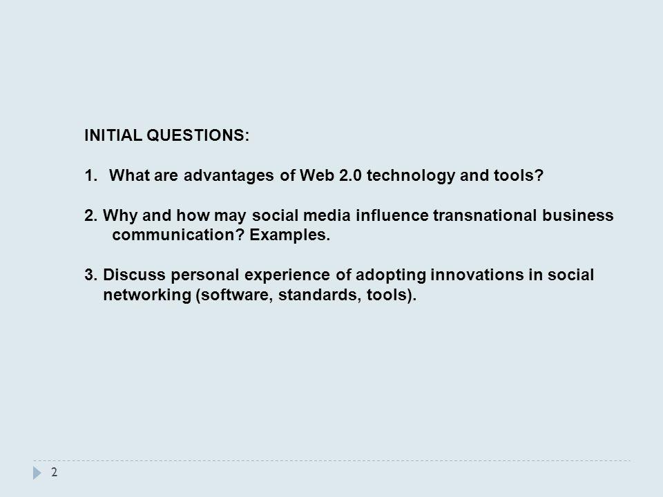 advantages of web 2.0 technologies