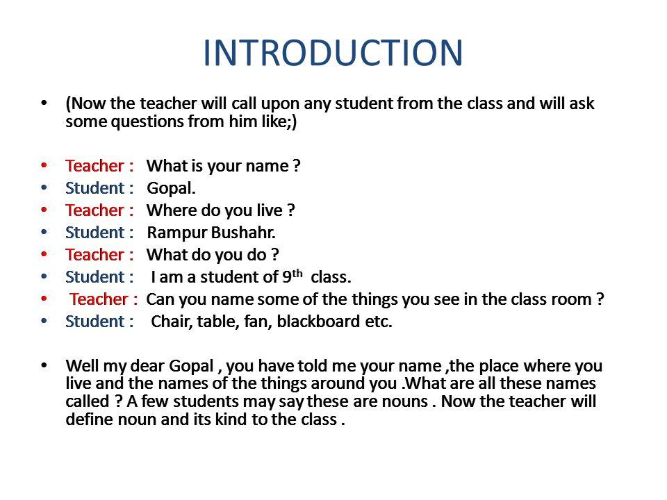 LESSON PLAN CLASS – IX TYPE OF LESSON: GRAMMAR TOPIC: NOUNS