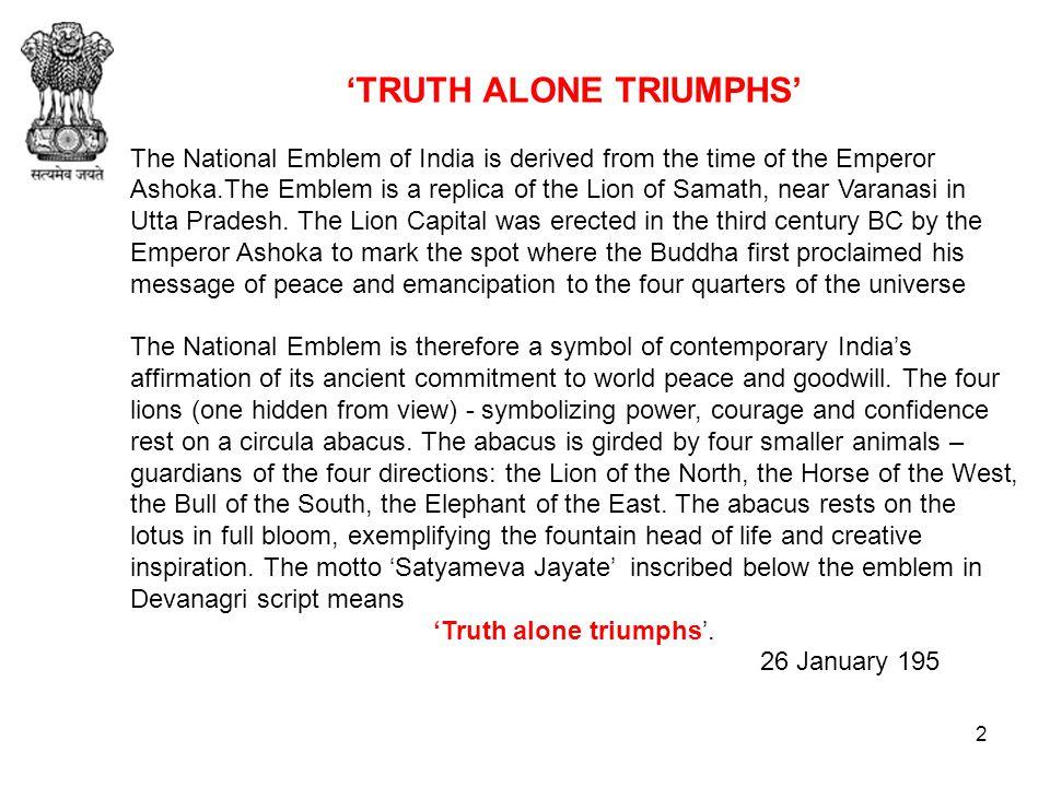 National Anthem of India Languages: Hindi English 1/ ppt