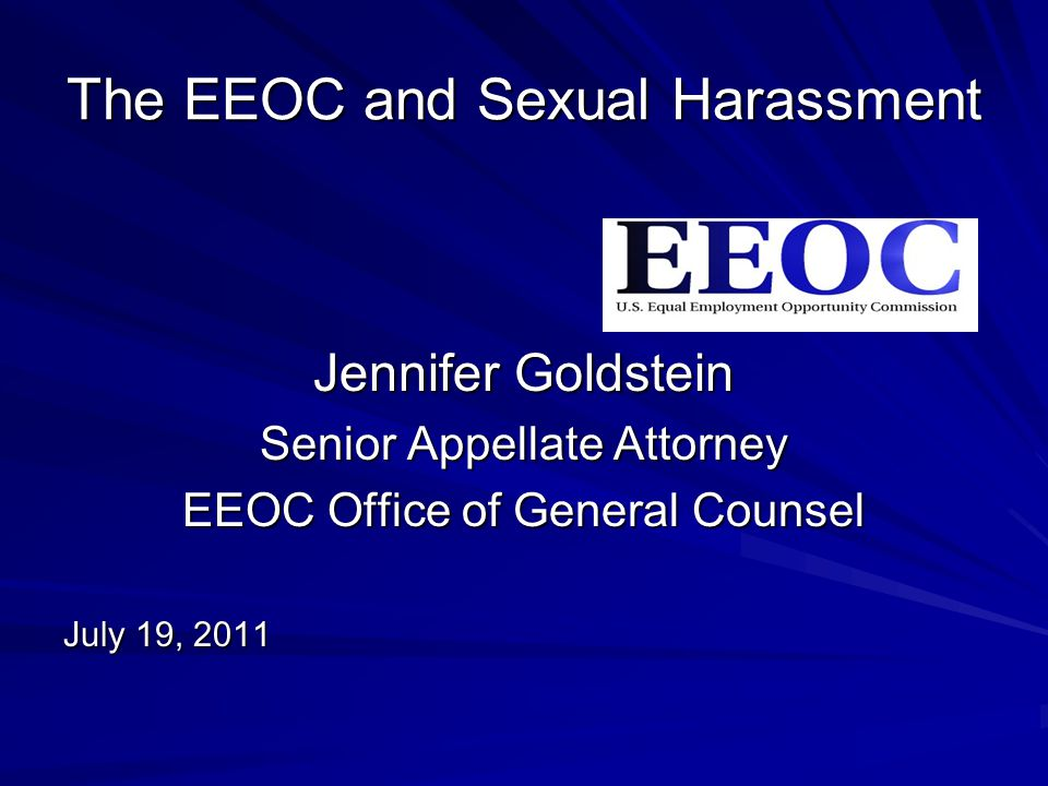 Appellate brief title vii sexual harassment