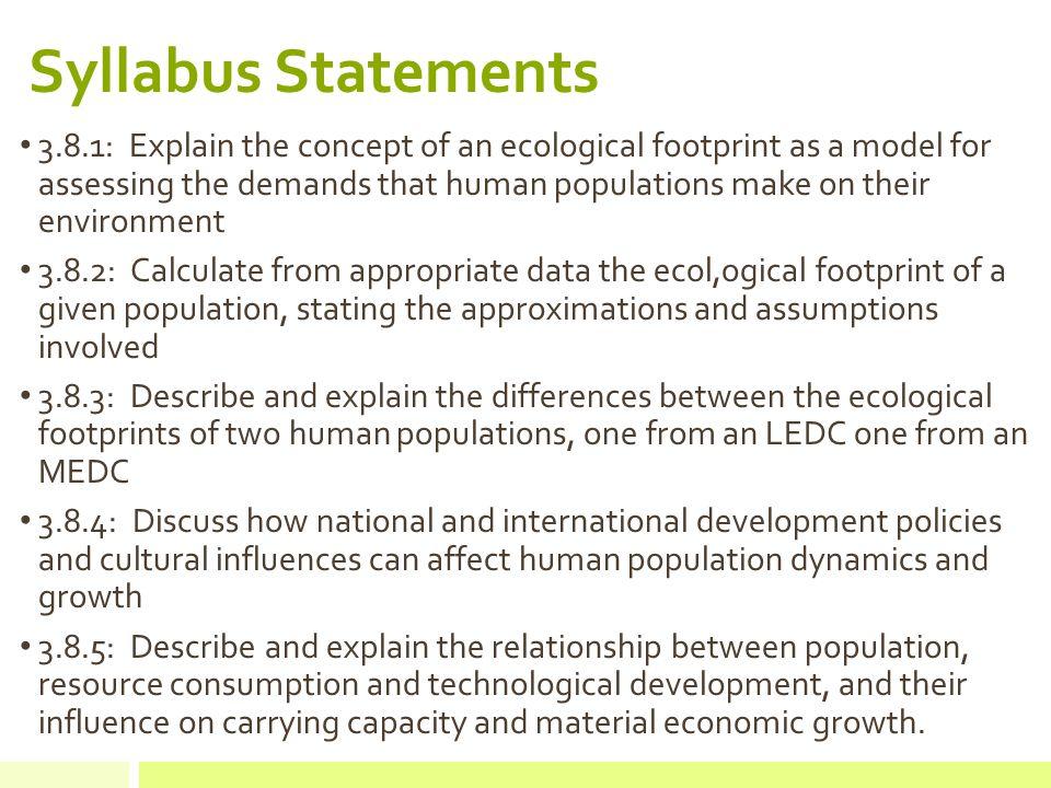 describe relationship between population and development