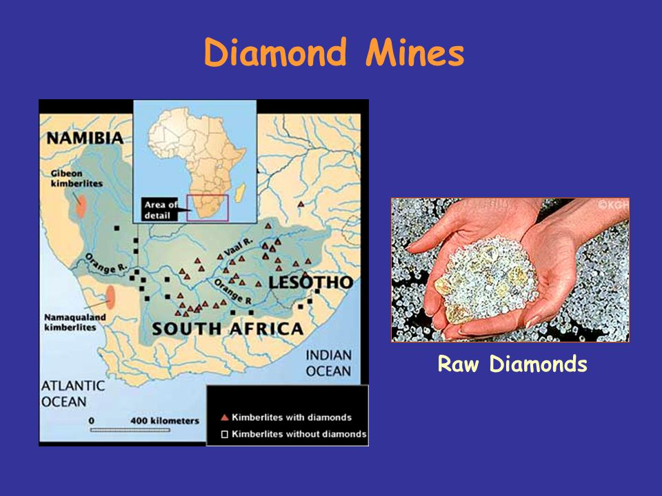 Diamond Mines Raw Diamonds