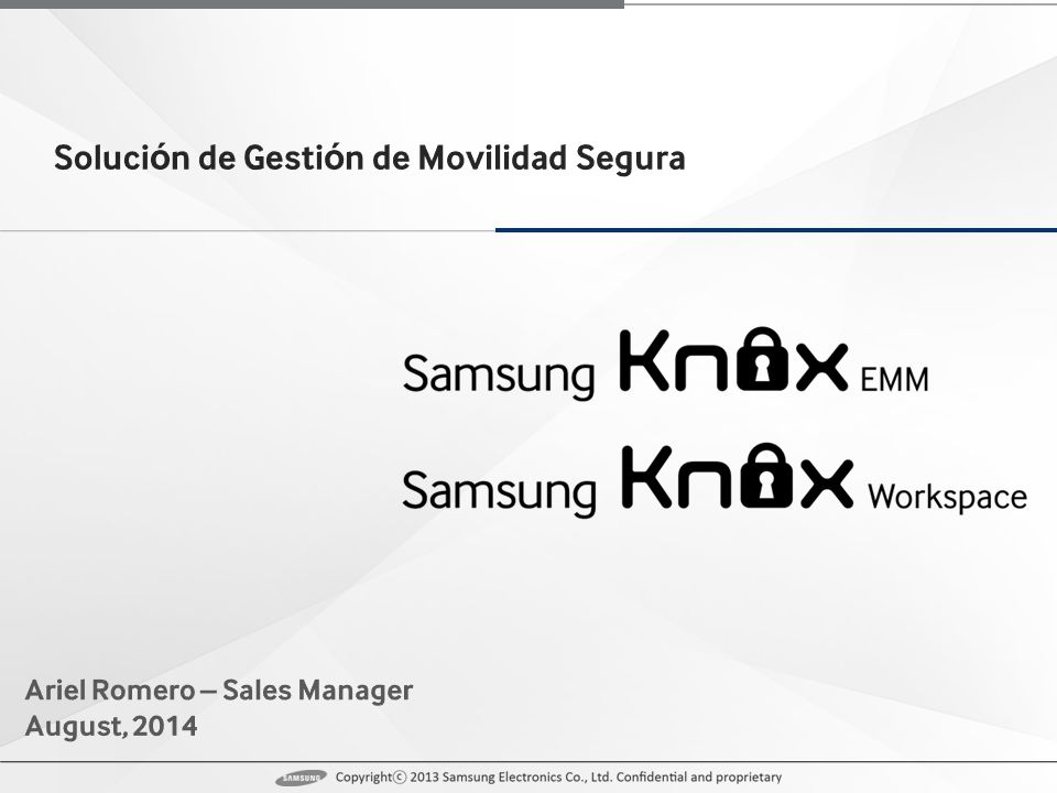 iOS & other Android devices KNOX EMM (Client) Cloud Service